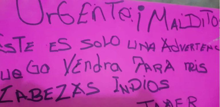 Anónimo con amenazas recibido por líder indígena de Ucayali.